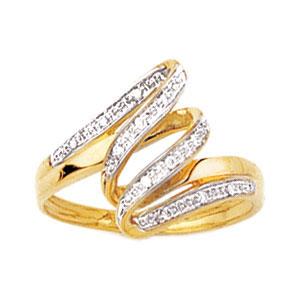 20f4779e7c8 Bague or jaune 750 1000e et diamant - Blanc (0