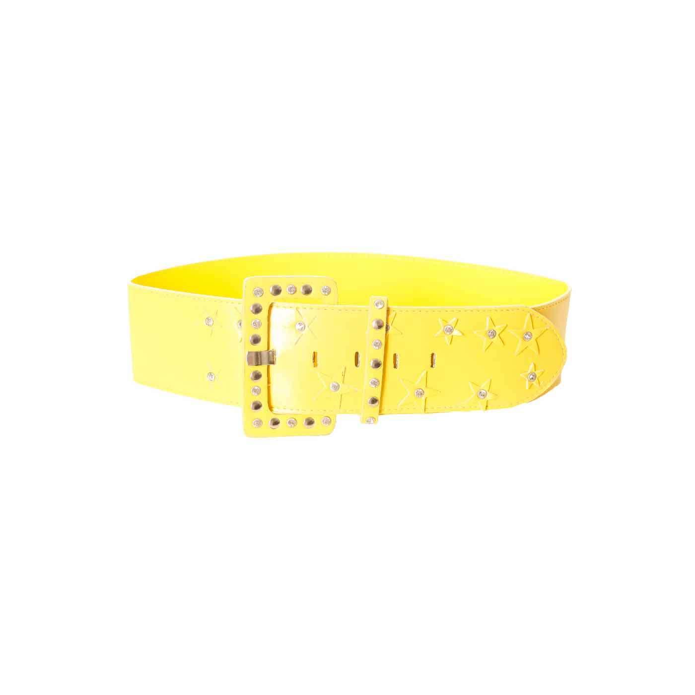 279b1775587 Produit Neuf - Miss Wear Line - Ceinture jaune avec grosse boucle à clou