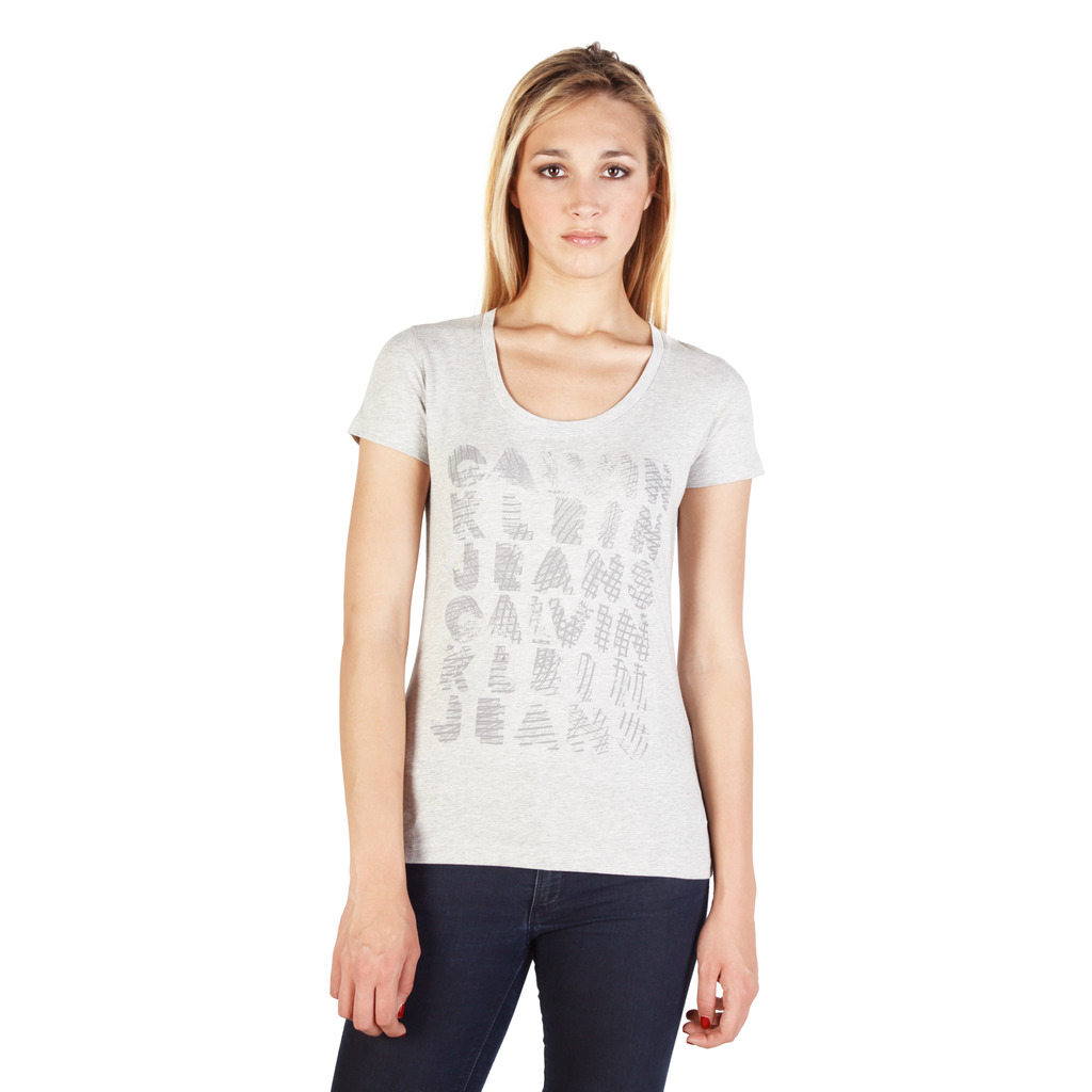 calvin klein t shirt pour femme cwp12l gris gris priceminister. Black Bedroom Furniture Sets. Home Design Ideas